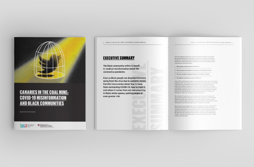 COVID-19 Whitepaper cover and inside spread