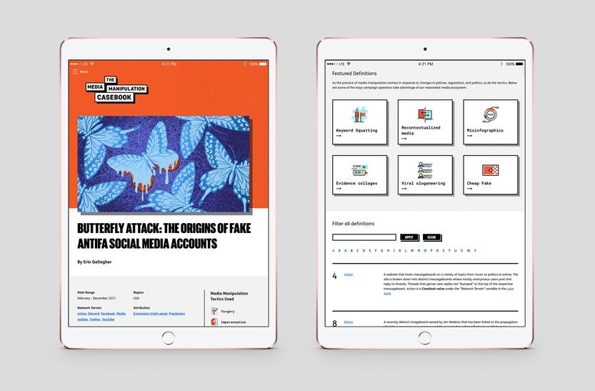 MMCB website on iPads