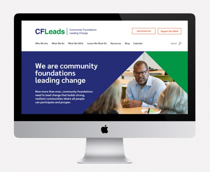 CFLeads website home page on an iMac